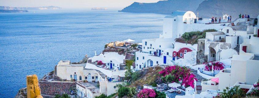 Santorini islands in Greece