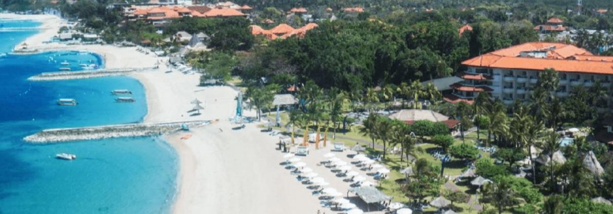 Pristine beach Bali Resort
