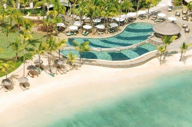 Aerial view of Le Meridien Mauritius